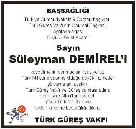 türk güreş vakfı ilan